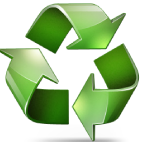 Large recycle logo